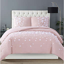 Christian Siriano NY® Confetti Flowers 3-Piece King Duvet Cover Set in Blush