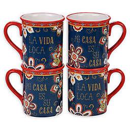 Certified International La Vida Mugs (Set of 4)