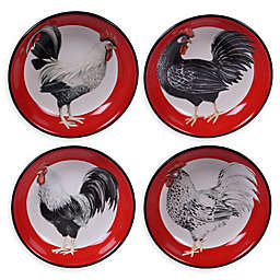 Certified International Homestead Rooster Soup/Pasta Bowls (Set of 4)