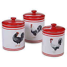 Certified International Homestead Rooster 3-Piece Canister Set