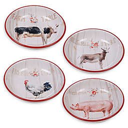 Certified International Farmhouse Soup/Cereal Bowls (Set of 4)
