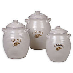 Certified International Gather 3-Piece Canister Set