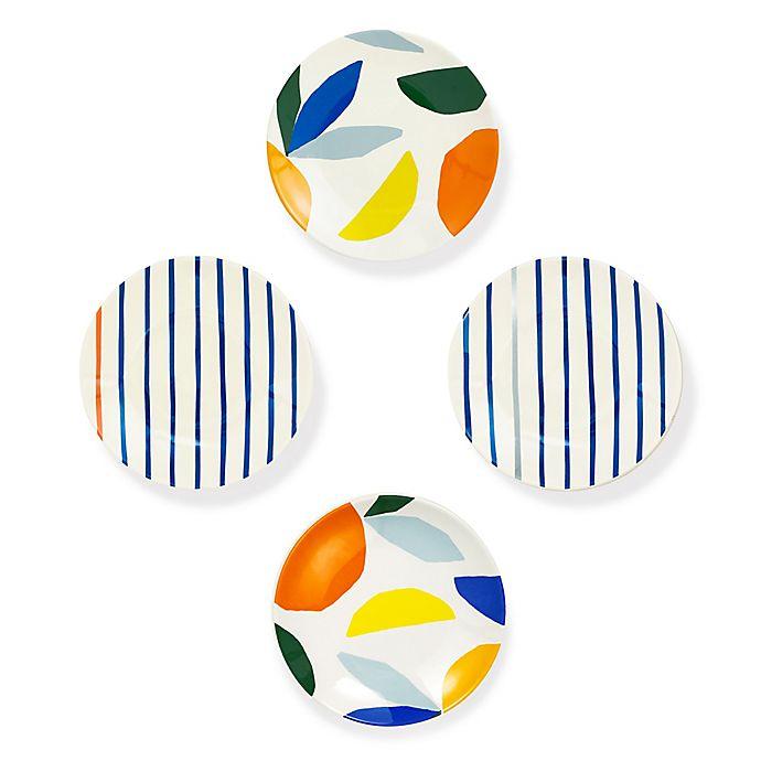 Alternate image 1 for kate spade new york Citrus Twist™ Melamine Tidbit Plates (Set of 4)
