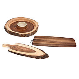 Lipper International Acacia Bark Serveware Collection