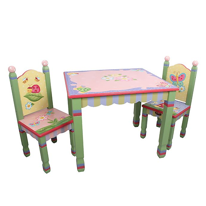 Alternate image 1 for Teamson Magic Garden 3-Piece Table and Chairs Set