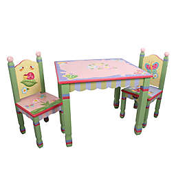 Teamson Magic Garden 3-Piece Table and Chairs Set