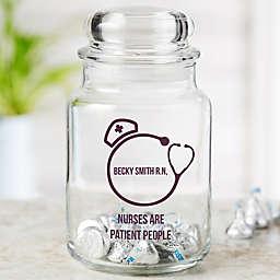 Nurse Icon Personalized Treat Jar