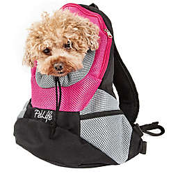 On-The-Go Travel Bark-Pack Backpack Pet Carrier in Pink