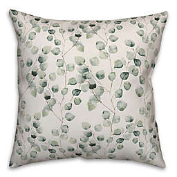 Designs Direct Soft Eucalyptus Square Throw Pillow in Green