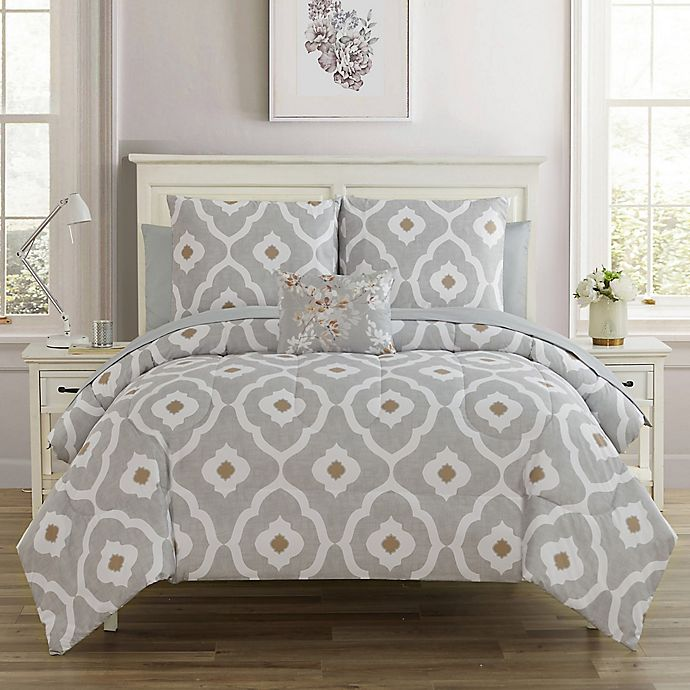 Alternate image 1 for Sara 12-Piece Reversible Comforter Set