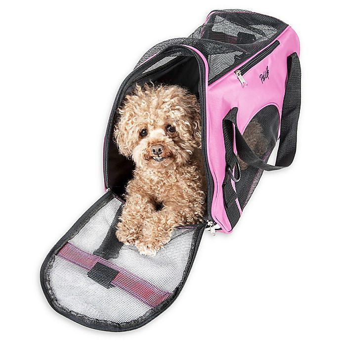 Alternate image 1 for Airline Approved Altitude Force Large Sporty Zippered Pet Carrier in Pink