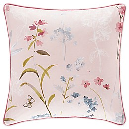 J. Queen New York™ Beatrice Square Throw Pillow in Rose