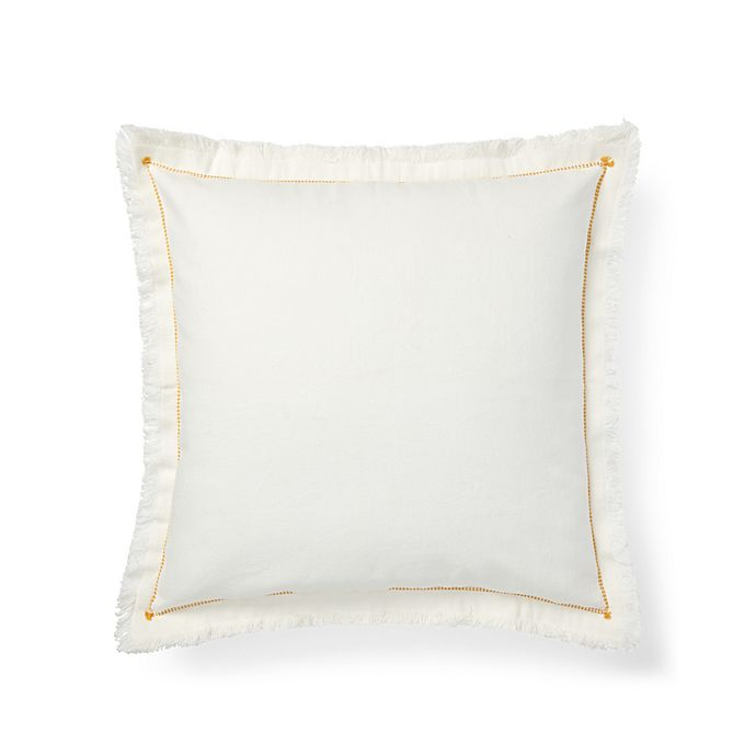 Lauren Ralph Liana Contrast Sch European Pillow Sham In White