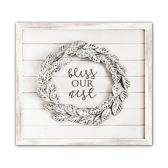 Bee Willow Home Bless Our Nest Shiplap Wall Art In White Bed Bath Beyond