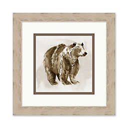 Watercolor Bear 20-Inch Square Framed Wall Art