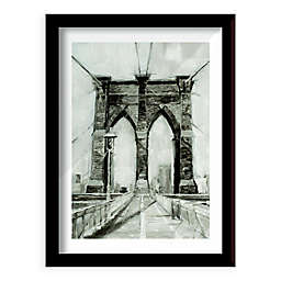 Bridge Crossing I 26-Inch x 20-Inch Framed Wall Art