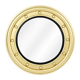 One Kings Lane Open House™ Calais Round Wall Mirror in Brass