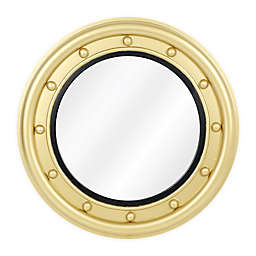 One Kings Lane™ Open House Calais Round Wall Mirror in Brass