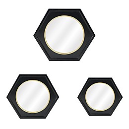 One Kings Lane Open House™ Calais Wall Mirrors in Black (Set of 3)