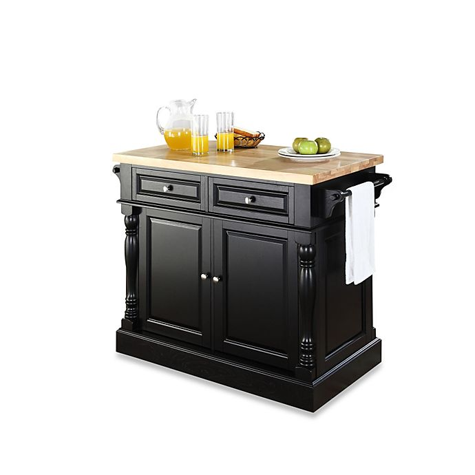 Crosley Butcher Block Hardwood Kitchen Island Bed Bath Beyond