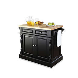 Crosley Butcher Block Hardwood Kitchen Island