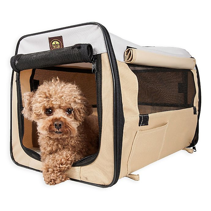 Alternate image 1 for Easy Folding Zippered Pet Crates