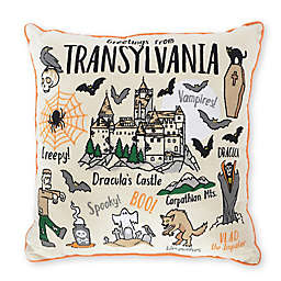 Transylvania Halloween Themed Throw Pillow