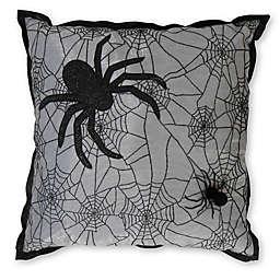 Spider Web Halloween Themed Throw Pillow