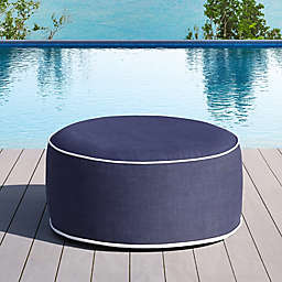 OVE Decors Marlowe Inflatable Outdoor Ottoman in Blue