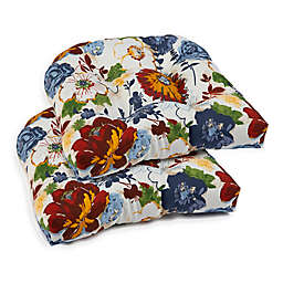 Marquax Floral Multicolor 2-Piece Outdoor Seat Cushion Set