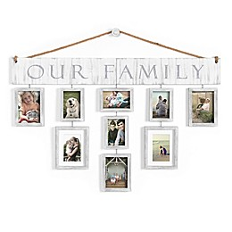 Wallverbs™ Our Family 10-Piece Hanging Frame Set in White