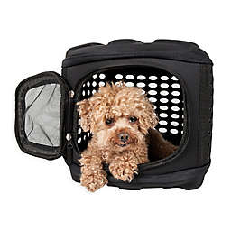 Pet Life™ Circular Shell Perforate Collapsible Pet Carrier