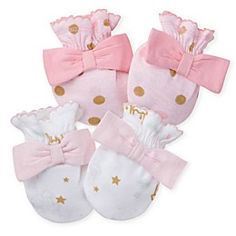 Gerber® Size 0-3M 2-Pack Princess Mittens in Pink