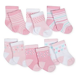Gerber® 6-Pack Crew Socks in Pink