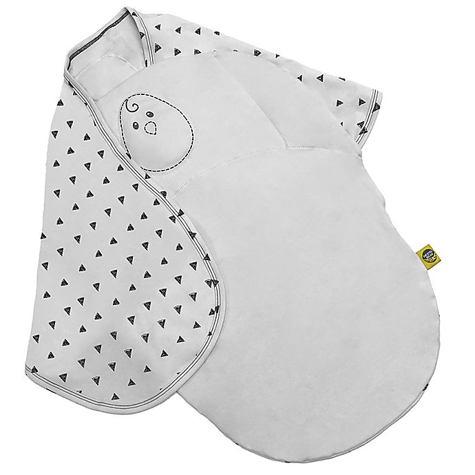 Alternate image 1 for Nested Bean 2-in-1 Zen Swaddle in Grey This Way