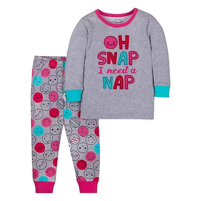 Alternate image 1 for Lamaze® 2-Piece Snap Nap Organic Cotton Toddler Pajama Set