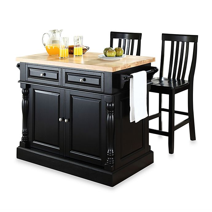 24 Kitchen Island: Crosley Butcher Block Kitchen Island With 24-Inch School