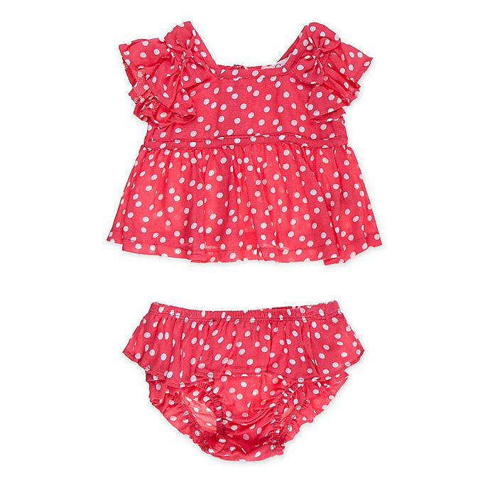 Alternate image 1 for Jessica Simpson Size 18M 2-Piece Dot Tank and Bloomer Set in Red