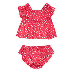 Jessica Simpson Size 18M 2-Piece Dot Tank and Bloomer Set in Red