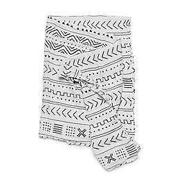 Loulou Lollipop White Mudcloth Swaddle Blanket