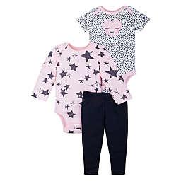 Lamaze® 3-Piece Star and Hearts Organic Cotton Layette Set