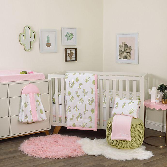 Alternate image 1 for NoJo® Dreamer Cactus 8-Piece Crib Bedding Set in Pink