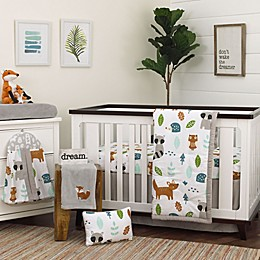 NoJo® Dreamer Little Woodland Friends Crib Bedding Set in Grey