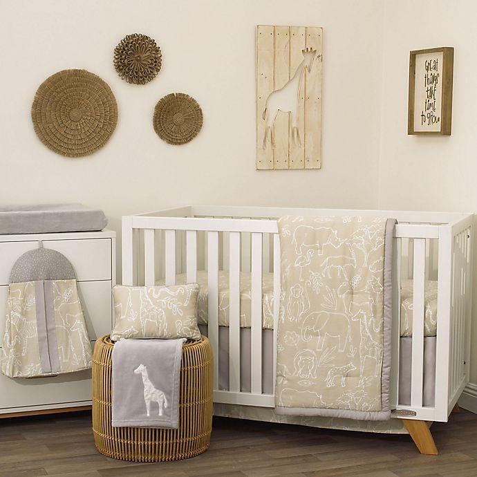Dreamer Modern Safari Crib Bedding Set