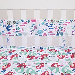 Disney® Ariel Ocean Beauty 4-Piece Secure-Me Crib Liner Set in Pink