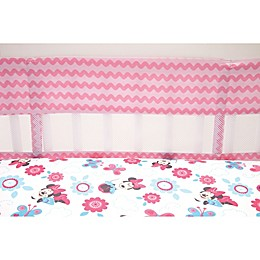 Disney® Minnie Mouse Happy Day 4-Piece Secure-Me Crib Liner Set in Pink