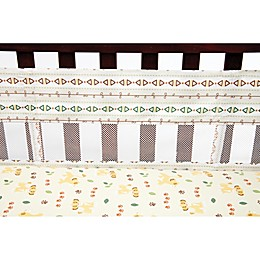 Disney® Lion King Under the Sun 4-Piece Secure-Me Crib Liner Set in Tan