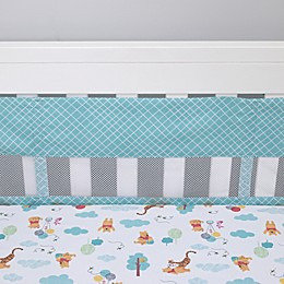 Disney® Winnie the Pooh First Best Friends 4-Piece Secure-Me Crib Liner Set in Aqua