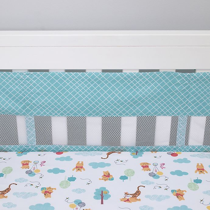 Alternate image 1 for Disney® Winnie the Pooh First Best Friends 4-Piece Secure-Me Crib Liner Set in Aqua