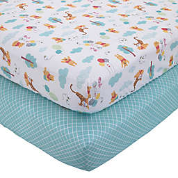 "Disney® Winnie the Pooh ""First Best Friend"" Crib Sheet in Aqua (Set of 2)"